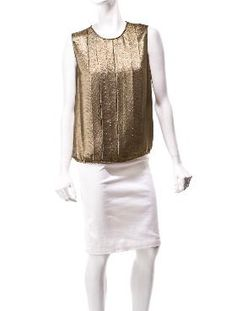 Chanel Metallic Pleated Top.  $325.  This screams Rock Star to me.