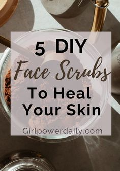 Still buying drugstore face scrub for acne ?STOP!! You can make your own homemade face scrub DIY! All natural with exfoliating effect. Click the link below, be amazed with these epic face scrubs and clear acne for good! DIY skincare recipes, DIY natural skincare, DIY beauty recipes, beauty product recipes,DIY beauty recipes.