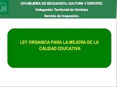 Portal de Inspección - LOMCE - Consejería de Educación, Cultura y Deporte