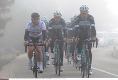 Gallery: On the road with Omega Pharma-QuickStep - Omega Pharma-QuickStep riders roll through a bit of fog during a training ride