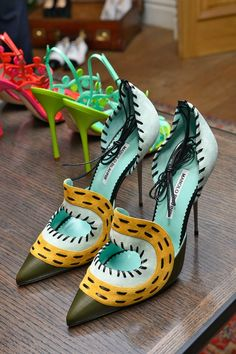 Stylish Shoes for Summer - Manolo Blahnik Shoes for Spring Summer 2014 #heels #trendyshoes #manoloblahnik #shoes