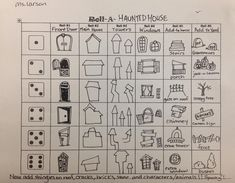 Roll a Dice and create a drawing of a Haunted House! Made by me:) -Laura Larson Halloween scary spooky drawing! Elementary art lesson. Spooky art for kids!