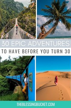 Epic 30 before 30 list for Travel Addicts - Which Adventures Have You Tried? - The Blessing Bucket Bucket List Destinations, Travel Destinations, 30 Before 30 List, Travel Goals, Travel Hacks, Travel Guides, Travel Tips, See The Northern Lights, G Adventures