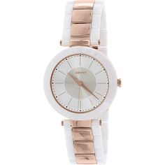 DKNY Women's Two Tone Analog Watch NY2290 ewatchesusa.com