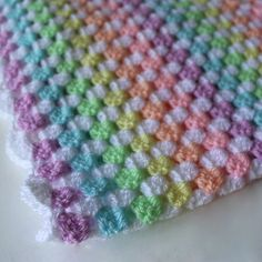 Crochet baby blanket granny square blanket by HomespunField
