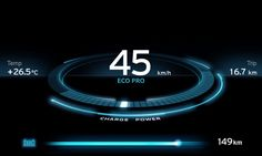 BMW i3 Concept LCD Display | User Interface Design for Car Displays