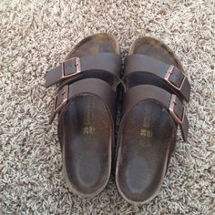 Brown Birkenstocks! Used but in good condition! I'm open to offers and trades  Birkenstock Shoes Sandals