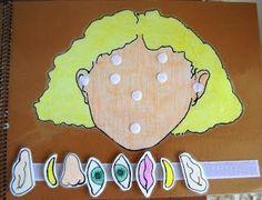 Careta para trabajar las emociones, los niños irán poniendo las diferentes partes en la silueta de la cara.
