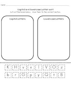 FREEBIE!!! Capital and lowercase letter sort