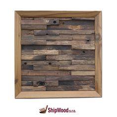Ručně vyráběný obraz vyskládaný kousek po kousku ze dřeva vysloužilých lodí Dálného východu vsazený do kvalitního dřevěného rámu.   Rozměr obrazu 340 x 340 mm.  Součástí dodávky rámu (obrazu) je kovové očko vč. hřebíčků pro umístění na rám dle potřeb zákazníka. Texture, Wood, Crafts, Furniture, Home Decor, Surface Finish, Manualidades, Decoration Home, Woodwind Instrument