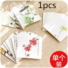 10pcs design blank rsvp paper cards free print colorful thank you 1pcs china jiangnan style zen ink sketch series mini purpose holiday greeting cards birthday cards m4hsunfo Images