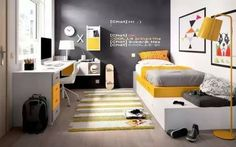chambre ado garçon deco petit espace The post chambre ado garçon deco petit espace appeared first on kinderzimmer. Small Boys Bedrooms, Small Room Bedroom, Small Rooms, Girls Bedroom, Bedroom Ideas, White Bedroom, Headboard Ideas, Master Bedroom, Trendy Bedroom