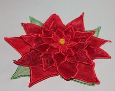 Hatched in Africa embroidery site 3d Christmas, Christmas Poinsettia, Sewing Crafts, Sewing Projects, Diy Crafts, Applique Designs, Embroidery Designs, Embroidered Flowers, Hand Stitching