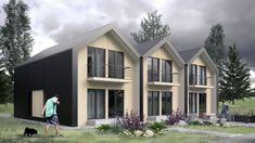 Modern house for three families in Russia Shed, Outdoor Structures, Cabin, House Styles, Outdoor Decor, Modern, Families, Russia, Google