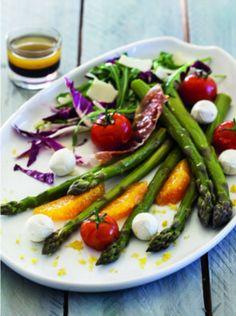 Recette Salade aux asperges vertes et tomates confites pour 4 personnes - GRAND FRAIS