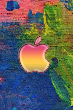 Apple Logo On Easel Paint Strokes iPhone 6 Wallpaper Ipad Mini Wallpaper, Apple Logo Wallpaper Iphone, 4 Wallpaper, Phone Wallpaper Images, Ios Wallpapers, Cellphone Wallpaper, Wallpaper Backgrounds, Iphone Backgrounds, Colorful Wallpaper