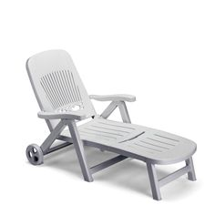 Italian plastic sun bed in forest green, anthracite grey and white col at My Italian Living Ltd Resin Furniture, French Furniture, Furniture Making, Outdoor Furniture, Outdoor Decor, Double Sun Lounger, Folding Sun Loungers, Reclining Sun Lounger, Lit Simple