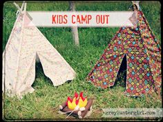 Teepee and felt fire for children