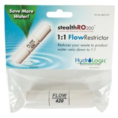 HydroLogic Stealth RO200 1:1 Ratio Flow Restrictor
