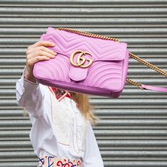 Gucci pink Marmont bag