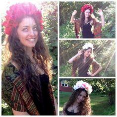 Flower Crown Headband 'Day of the Dead' Sugar by SumeriaSierra