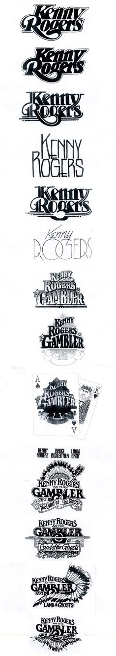 Kenny Rogers.  Changes to his logo to suit the time period.  Keep your logo fresh and up to date.  ^James Print