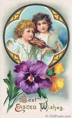 Vintage Easter by OldPixels.com, via Flickr ca. 1910 #Greetings