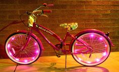 Think Pink Wheel Cool Bike Lights by CycleLights on Etsy