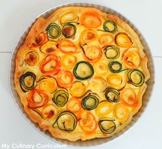 My Culinary Curriculum: Tarte rose de légumes (carottes et courgettes) à la moutarde et au vieux cheddar (Rose vegetable pie (carrots and zucchini) with mustard and old cheddar)