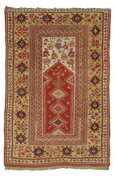 Lot 27, a Melas prayer rug, West Anatolia, early 19th ct. Size 176 x 120 cm. Nagel Rugs and Carpets 19 March 2013
