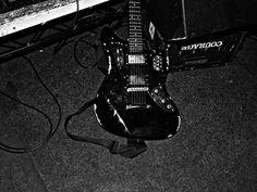 beat up Fender Jaguar