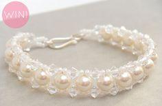 Pearl Bridal Bracelet Giveaway! (Bracelet: Merry Alchemy Bridal; Giveaway via EmmalineBride.com)