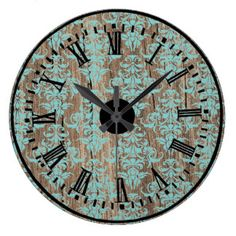 old turquoise clocks - Bing images