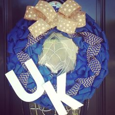 University Of Kentucky Burlap Wreath