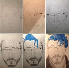 WIP from my December 2015 drawing of Markiplier!