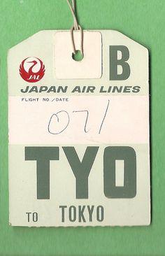*TYO Tokyo luggage tag
