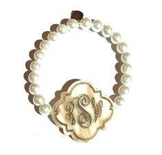 Personalized Quatrefoil Bracelet