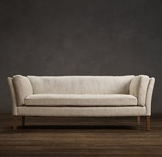 "Sorensen Upholstered Sofas | Restoration Hardware - available in 2 depths, 5 lengths & 56 fabrics; i recommend the 5'L, 33""D, and perhaps upholster in one of their outdoor fabrics for added durability? $1580"