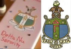 For the movie version of Legally Blonde, Delta Gamma was changed to Delta Nu, but they kept a lot of our crest as you can see in the opening scene on Elle's paddle. (So basically, I'm a Delta Nu) Sorority Paddles, Sorority Life, Elle Woods, Legally Blonde, Delta Gamma, Bid Day, Fraternity, Anchors
