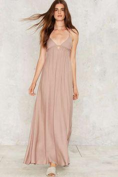 Aislin Plunging Maxi Dress - Maxi Dresses