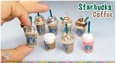 Ruby Door Art & Design: How to Make Starbucks Coffee Charms with Polymer Clay - Tutorial I really want to make some polymer clay charms ^_^ Cute Polymer Clay, Cute Clay, Polymer Clay Miniatures, Polymer Clay Projects, Polymer Clay Charms, Polymer Clay Creations, Diy Clay, Clay Crafts, Biscuit