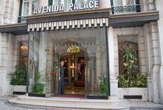 Avenida Palace Hotel, Entrance, Lisbon, Portugal