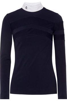 Cavalleria Toscana | Technical Show poplin-trimmed stretch-jersey top | NET-A-PORTER.COM