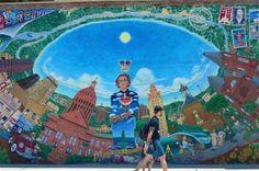 Mural in downtown Austin, Texas.