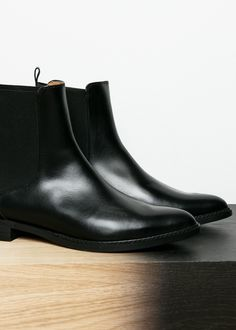 buy popular 4ec02 ed592 Leather chelsea ankle boots - Plus sizes