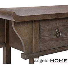 @Overstock - This angelo:HOME Kara Sofa Table combines Asian and vintage styles.  The end table has three drawers for concealed storage.http://www.overstock.com/Home-Garden/angelo-HOME-Kara-Sofa-Table/6002314/product.html?CID=214117 $297.04