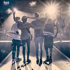 The a vamps at the end of their Dublin show.