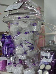 Lovely big Jar of Lavender Bath fizzies ~ At Aroha gifts Putaruru Big Jar, Soap Display, Bath Fizzies, Soaps, Lavender, Parties, Crystals, Antiques, Creative