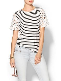 Best of both worlds - stripes and lace!