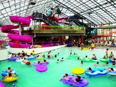Take the #kids swimming all year long in #Oklahoma at the Water Zoo Indoor Water Park in Clinton! It has giant slides, shallow areas for tiny tots and plenty of other ways to have summer fun anytime.